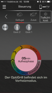App Oberfläche OptGrill Smart